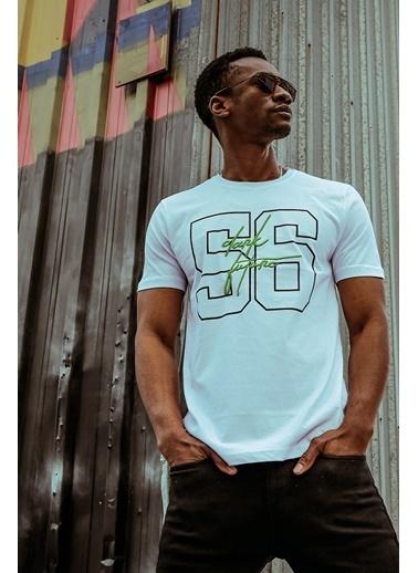 XHAN Beyaz Naskışlı & Baskılı T-Shirt 1Kxe1-44598-01 Beyaz